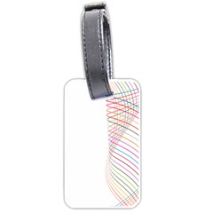 Line Wave Rainbow Luggage Tags (two Sides) by Mariart