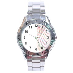 Line Wave Rainbow Stainless Steel Analogue Watch by Mariart