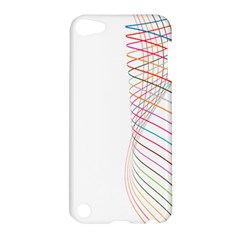 Line Wave Rainbow Apple Ipod Touch 5 Hardshell Case by Mariart