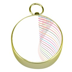 Line Wave Rainbow Gold Compasses by Mariart