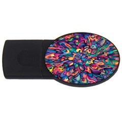 Moreau Rainbow Paint Usb Flash Drive Oval (4 Gb) by Mariart