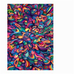 Moreau Rainbow Paint Small Garden Flag (two Sides) by Mariart