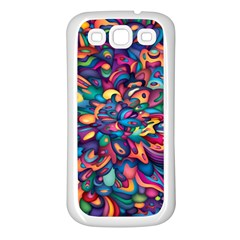 Moreau Rainbow Paint Samsung Galaxy S3 Back Case (white) by Mariart
