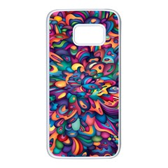 Moreau Rainbow Paint Samsung Galaxy S7 White Seamless Case by Mariart
