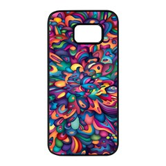 Moreau Rainbow Paint Samsung Galaxy S7 Edge Black Seamless Case by Mariart