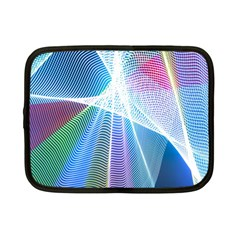 Light Means Net Pink Rainbow Waves Wave Chevron Green Blue Sky Netbook Case (small)  by Mariart