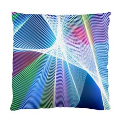 Light Means Net Pink Rainbow Waves Wave Chevron Green Blue Sky Standard Cushion Case (one Side) by Mariart
