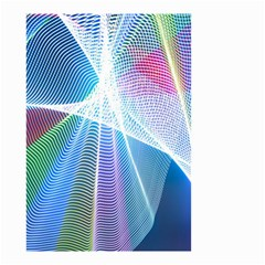 Light Means Net Pink Rainbow Waves Wave Chevron Green Blue Sky Small Garden Flag (two Sides) by Mariart