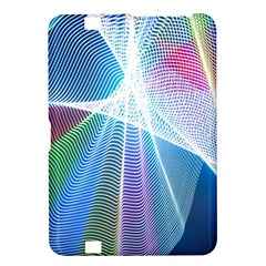 Light Means Net Pink Rainbow Waves Wave Chevron Green Blue Sky Kindle Fire Hd 8 9  by Mariart
