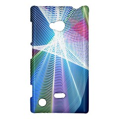 Light Means Net Pink Rainbow Waves Wave Chevron Green Blue Sky Nokia Lumia 720 by Mariart