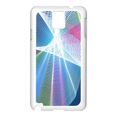 Light Means Net Pink Rainbow Waves Wave Chevron Green Blue Sky Samsung Galaxy Note 3 N9005 Case (white)