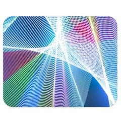 Light Means Net Pink Rainbow Waves Wave Chevron Green Blue Sky Double Sided Flano Blanket (medium)  by Mariart