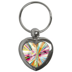 Illustration Material Collection Line Rainbow Polkadot Polka Key Chains (heart)  by Mariart