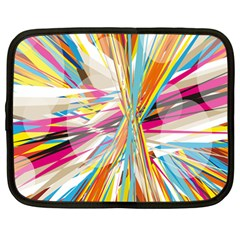 Illustration Material Collection Line Rainbow Polkadot Polka Netbook Case (large) by Mariart