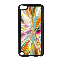 Illustration Material Collection Line Rainbow Polkadot Polka Apple Ipod Touch 5 Case (black) by Mariart