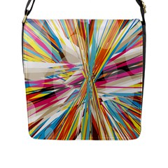Illustration Material Collection Line Rainbow Polkadot Polka Flap Messenger Bag (l)  by Mariart