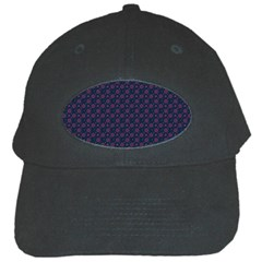 Purple Floral Seamless Pattern Flower Circle Star Black Cap by Mariart