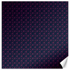 Purple Floral Seamless Pattern Flower Circle Star Canvas 12  X 12   by Mariart