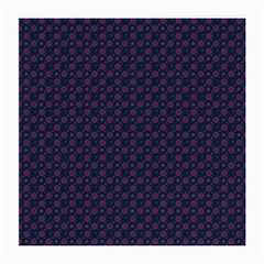 Purple Floral Seamless Pattern Flower Circle Star Medium Glasses Cloth by Mariart