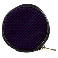 Purple Floral Seamless Pattern Flower Circle Star Mini Makeup Bags by Mariart