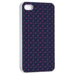 Purple Floral Seamless Pattern Flower Circle Star Apple Iphone 4/4s Seamless Case (white) by Mariart