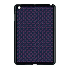 Purple Floral Seamless Pattern Flower Circle Star Apple Ipad Mini Case (black) by Mariart