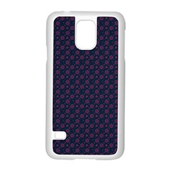 Purple Floral Seamless Pattern Flower Circle Star Samsung Galaxy S5 Case (white) by Mariart