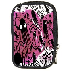 Octopus Colorful Cartoon Octopuses Pattern Black Pink Compact Camera Cases by Mariart