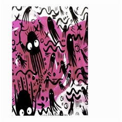 Octopus Colorful Cartoon Octopuses Pattern Black Pink Small Garden Flag (two Sides) by Mariart