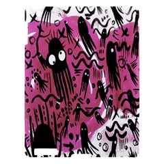 Octopus Colorful Cartoon Octopuses Pattern Black Pink Apple Ipad 3/4 Hardshell Case by Mariart