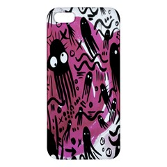 Octopus Colorful Cartoon Octopuses Pattern Black Pink Apple Iphone 5 Premium Hardshell Case by Mariart