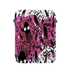 Octopus Colorful Cartoon Octopuses Pattern Black Pink Apple Ipad 2/3/4 Protective Soft Cases by Mariart