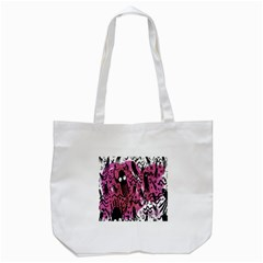 Octopus Colorful Cartoon Octopuses Pattern Black Pink Tote Bag (white) by Mariart