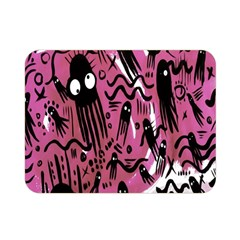 Octopus Colorful Cartoon Octopuses Pattern Black Pink Double Sided Flano Blanket (mini)  by Mariart