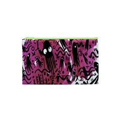Octopus Colorful Cartoon Octopuses Pattern Black Pink Cosmetic Bag (xs) by Mariart