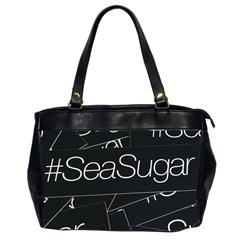 Sea Sugar Line Black Office Handbags (2 Sides)  by Mariart