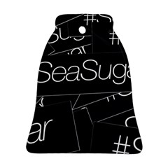 Sea Sugar Line Black Ornament (bell) by Mariart