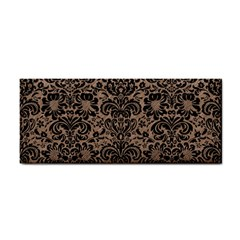 Damask2 Black Marble & Brown Colored Pencil (r) Hand Towel by trendistuff