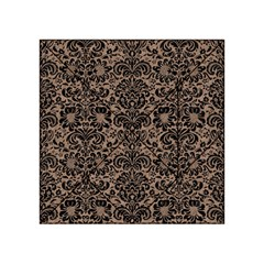 Damask2 Black Marble & Brown Colored Pencil (r) Acrylic Tangram Puzzle (4  X 4 ) by trendistuff