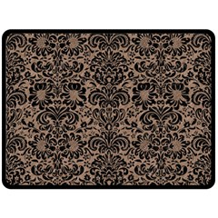 Damask2 Black Marble & Brown Colored Pencil (r) Double Sided Fleece Blanket (large) by trendistuff