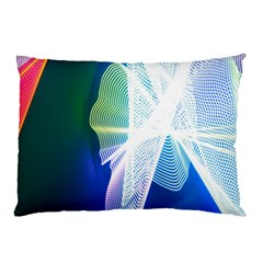 Net Sea Blue Sky Waves Wave Chevron Pillow Case (two Sides) by Mariart