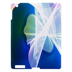 Net Sea Blue Sky Waves Wave Chevron Apple Ipad 3/4 Hardshell Case by Mariart