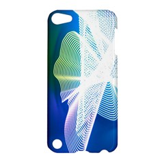 Net Sea Blue Sky Waves Wave Chevron Apple Ipod Touch 5 Hardshell Case by Mariart