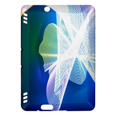 Net Sea Blue Sky Waves Wave Chevron Kindle Fire Hdx Hardshell Case by Mariart