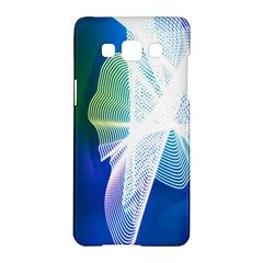 Net Sea Blue Sky Waves Wave Chevron Samsung Galaxy A5 Hardshell Case  by Mariart