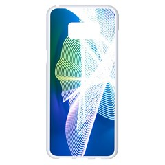 Net Sea Blue Sky Waves Wave Chevron Samsung Galaxy S8 Plus White Seamless Case by Mariart