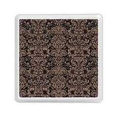 Damask2 Black Marble & Brown Colored Pencil Memory Card Reader (square) by trendistuff