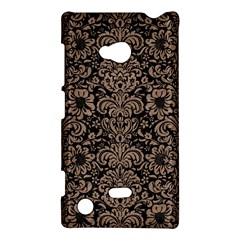 Damask2 Black Marble & Brown Colored Pencil Nokia Lumia 720 Hardshell Case by trendistuff