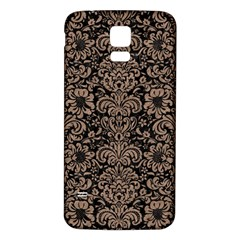 Damask2 Black Marble & Brown Colored Pencil Samsung Galaxy S5 Back Case (white) by trendistuff