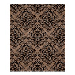 Damask1 Black Marble & Brown Colored Pencil (r) Shower Curtain 60  X 72  (medium) by trendistuff